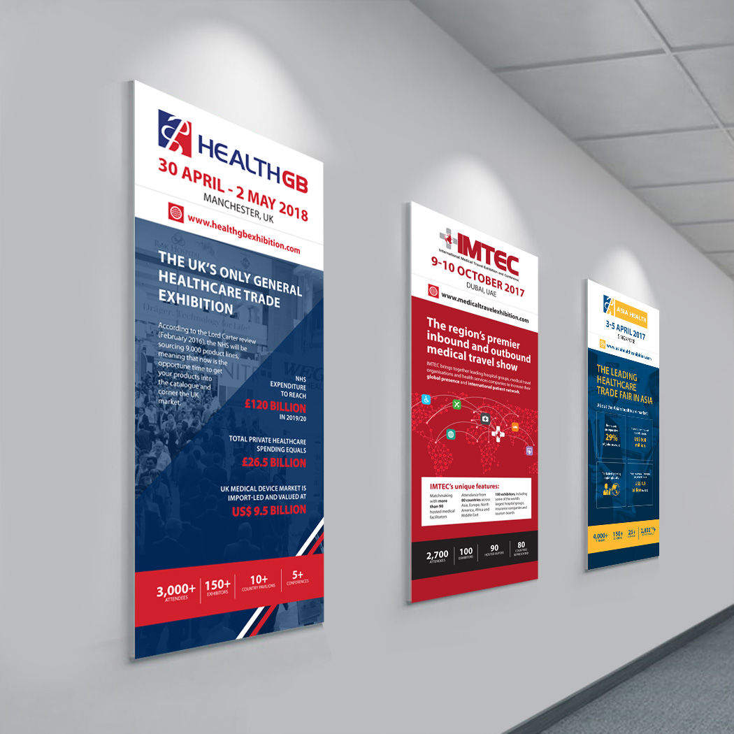 Roll-up Banners for Arab Health 2016 Show
